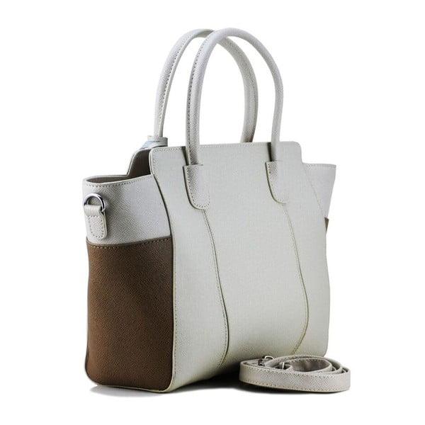 Kožená kabelka Gina Beige/Taupe