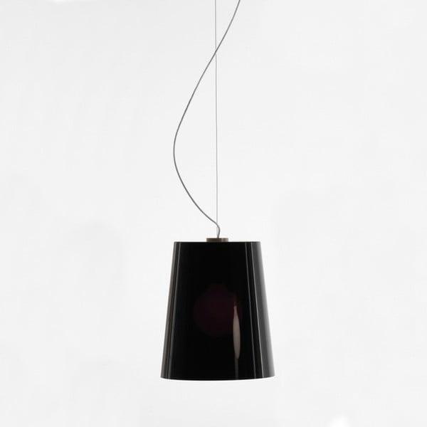 Závesné svietidlo Pedrali L001S/A, plné čierne