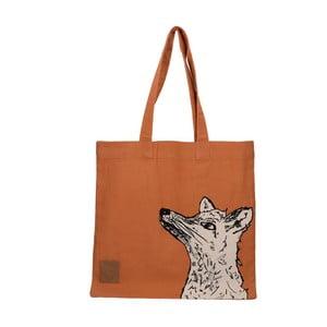 Oranžová plátená taška Creative Tops Wild Fox