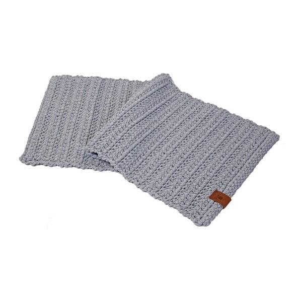 Háčkovaný koberec Catness, sivy, 50x100 cm