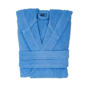 Modrý bavlnený župan s kapucňou Casa di Bassi, veľkosť L/XL