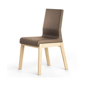 Hnedá stolička z dubového dreva Absynth Kyla