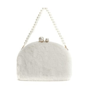 Biela listová kabelka Renata Corsi Garno