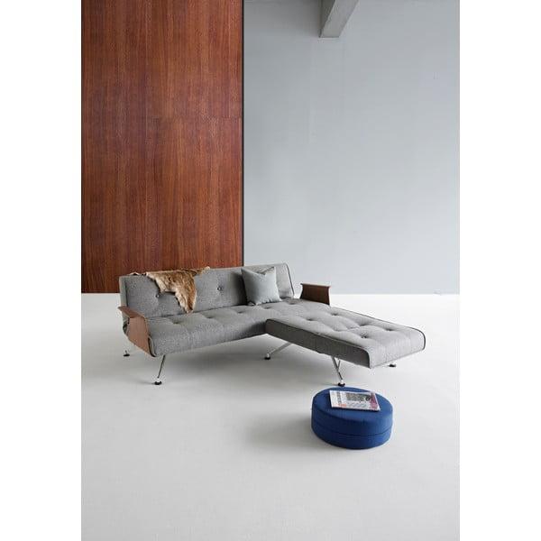 Sivá rozkladacia pohovka Innovation Clubber Sofa
