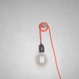 Oranžový textilný kábel s objímkou Filament Style Cable