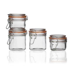 Sada 4 sklenených uzatvárateľných pohárov Versa Torrino