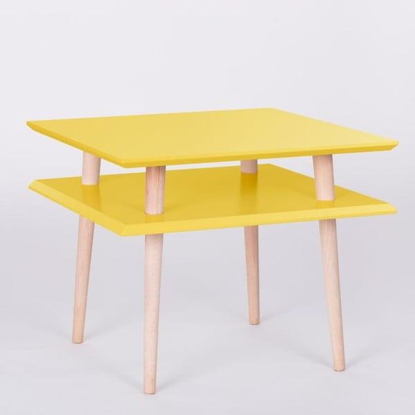 Žltý konferenčný stolík Ragaba Square, 55x55cm