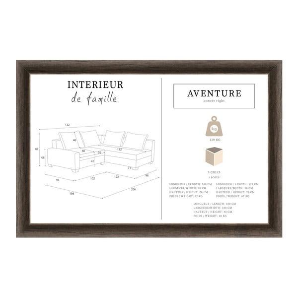 Slivkovofialová sedačka Interieur De Famille Paris Aventure, pravý roh