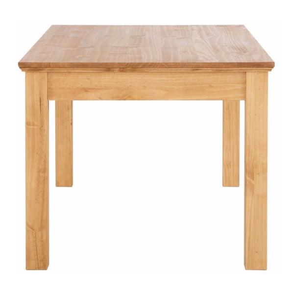 Hnedý jedálenský stôl z masívneho borovicového dreva so zásuvkou Støraa Suzie