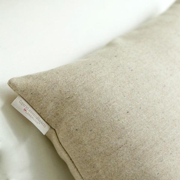 Vlnený vankúš Tweed 40x40 cm, krémový