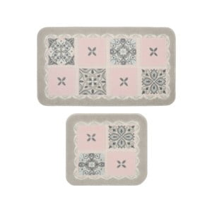 Sada 2 kúpeľňových predložiek Confetti Bathmats Ceramic Pink