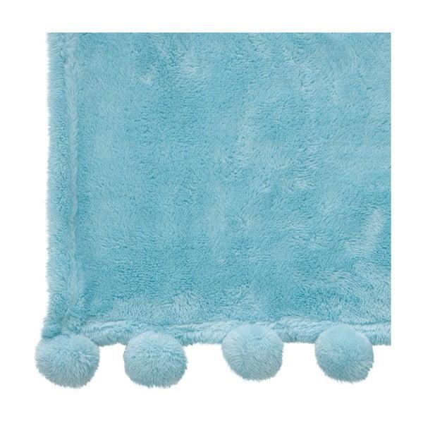 Pléd Pom-Pom Blue, 130x170 cm