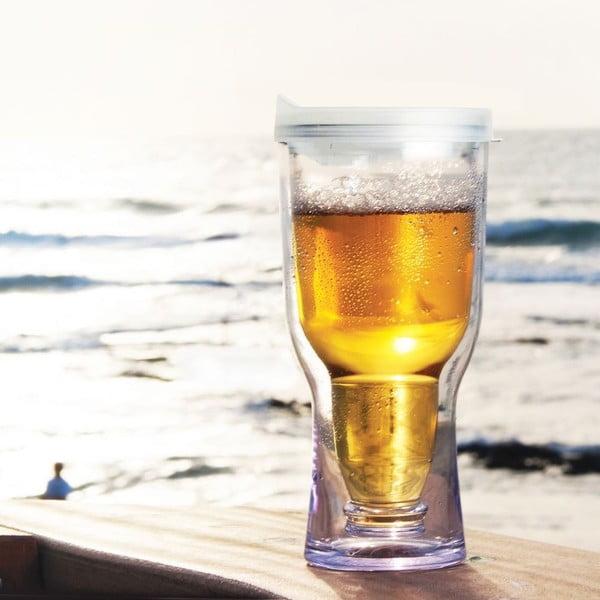 Nezničitelný pohár na pivo Brew2Go, biela
