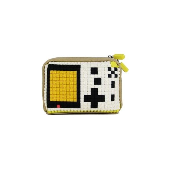 Pixelová taštička, beige/black