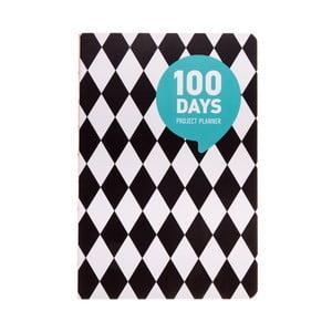 Plánovač Languo 100 Days Kosočtverec