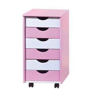 Ružovo-biela komoda 13Casa Color