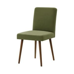 Zelená stolička s tmavohnedými nohami Ted Lapidus Maison Fragrance