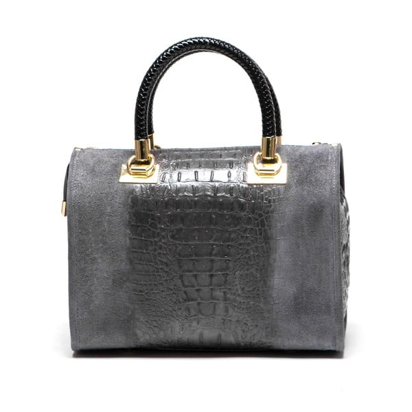 Kožená kabelka Poure 822 Grigio