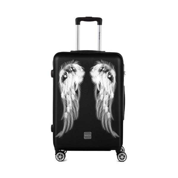 Čierny cestovný kufor Berenice Wings, 71 l