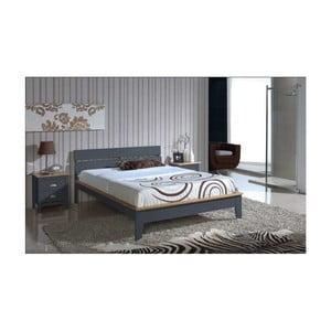Sivá posteľ SOB Javier, 140x200cm