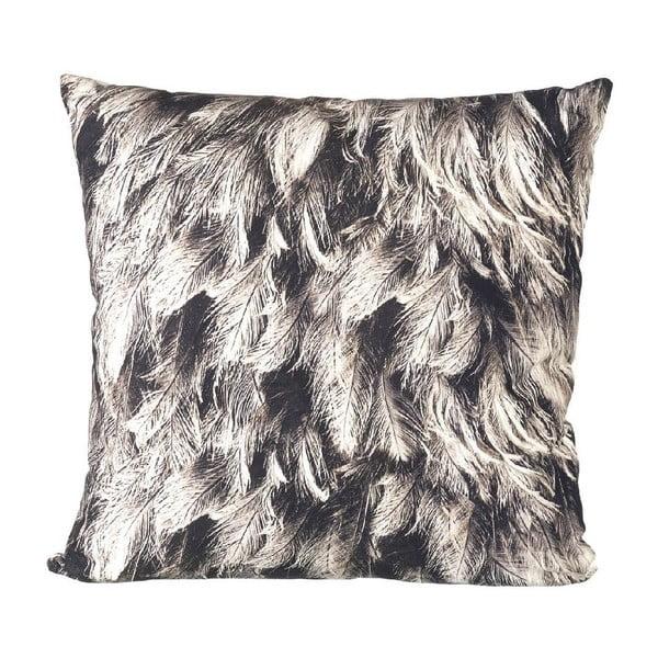 Vankúš s výplňou Feathers Grey, 45x45 cm