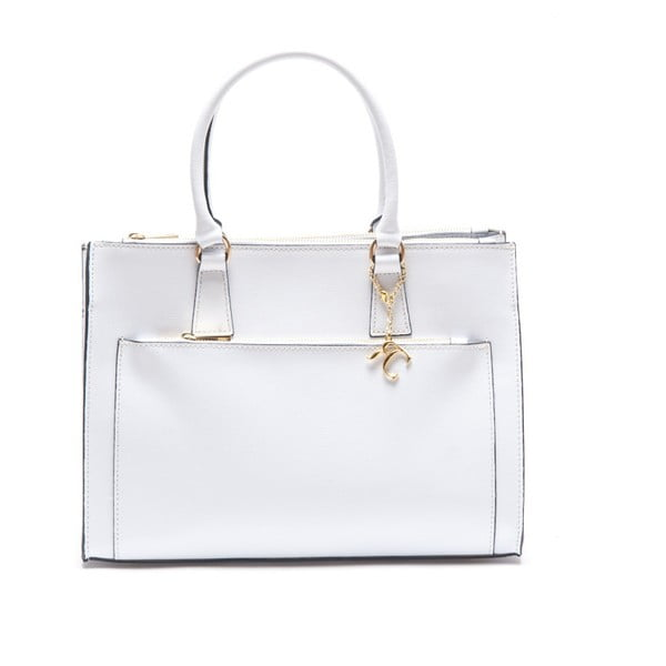 Kožená kabelka Renata Corsi 444 Bianco