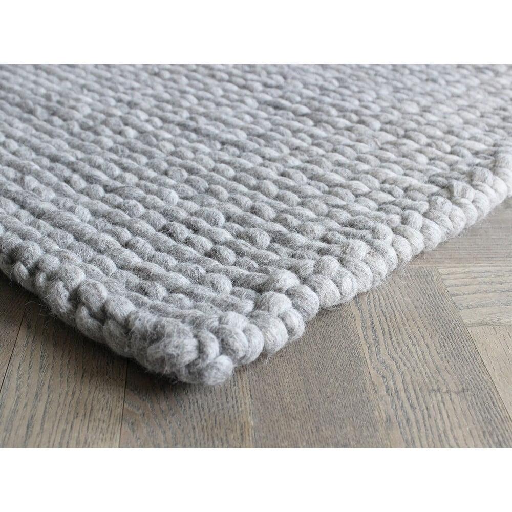 Pieskovohnedý pletený vlnený koberec Wooldot Ball rugs, 100 x 150 cm