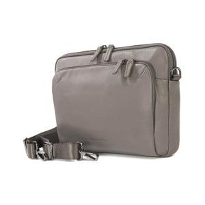 Sivá taška na rameno z talianskej kože Tucano One Post