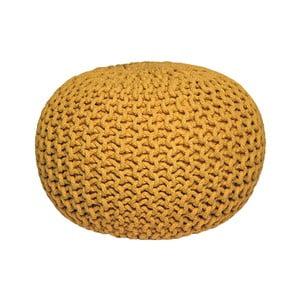 Žltý pletený puf LABEL51 Knitted