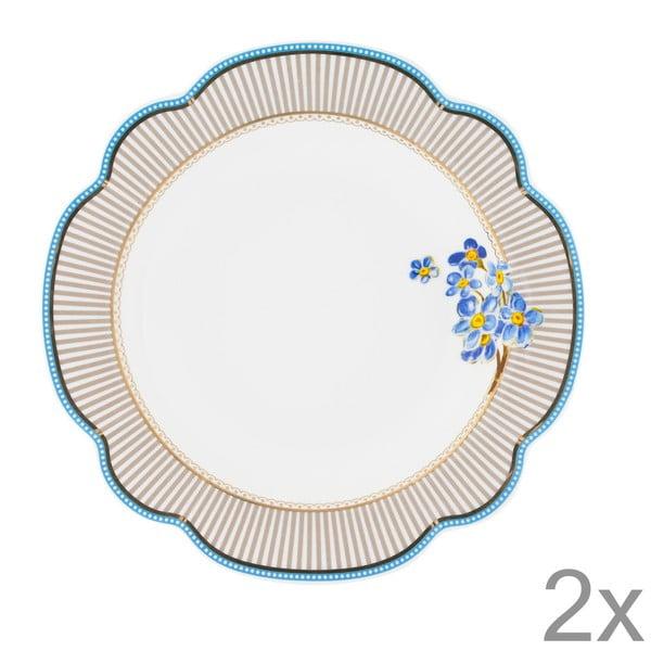 Porcelánový hlboký tanier Beach od Lisbeth Dahl, 24 cm, 2 ks