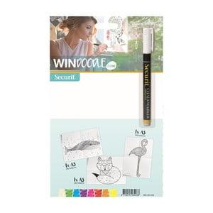 Set 3 šablón vo formáte A3 a fixky na okno Animals