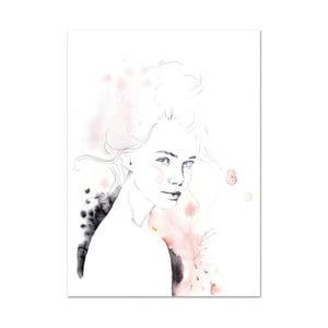 Plagát Leo La Douce Miss Louise, 21x29,7cm