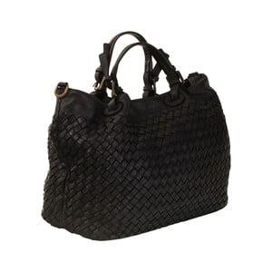 Čierna kožená kabelka Andrea Cardone Travel Black