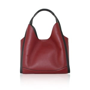 Tmavočervená kožená kabelka Maison Bag Giade