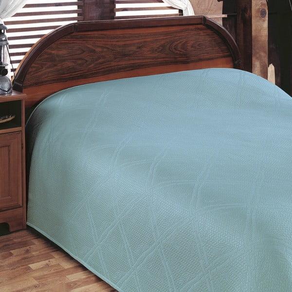 Prikrývka na posteľ Pike Turquoise, 200x230 cm
