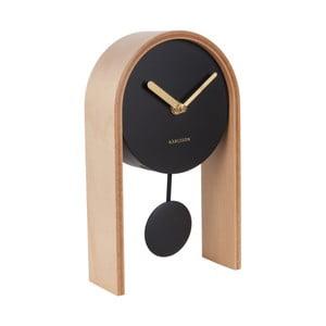 Stolové hodiny s brezovým drevom Karlsson Smart Pendulum Light
