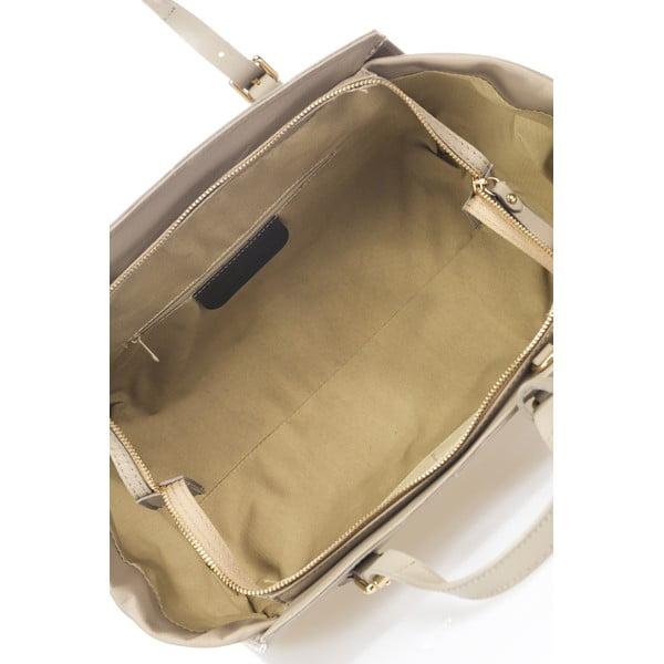 Kožená kabelka Bravisa, sivá