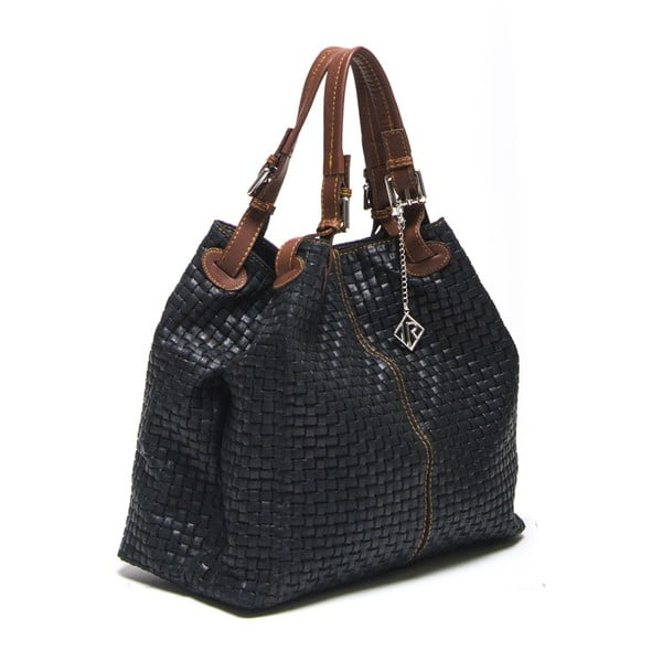 Kožená kabelka Bella, čierna