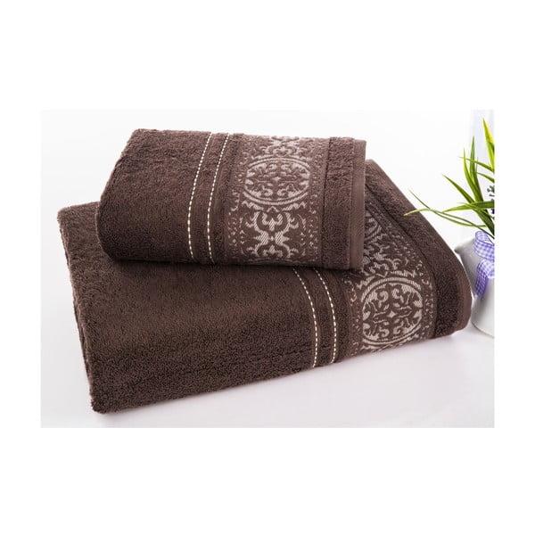 Sada uteráka a osušky Ottoman Brown, 50x90 cm a 70x140 cm