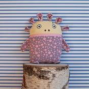 Sivo-ružový pyžamožrút Bartex, 35 x 30 cm
