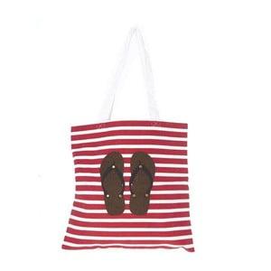 Plážová plátená taška Flip Flops