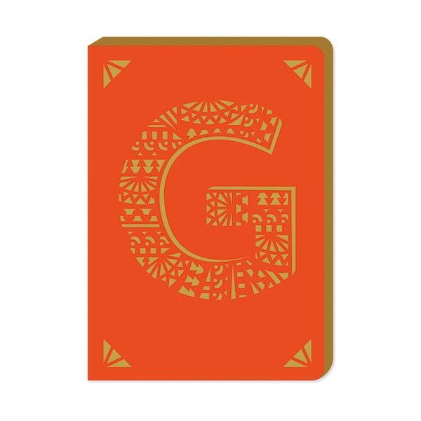 Linajkový zápisník A6 s monogramom Portico Designs G, 160stránok