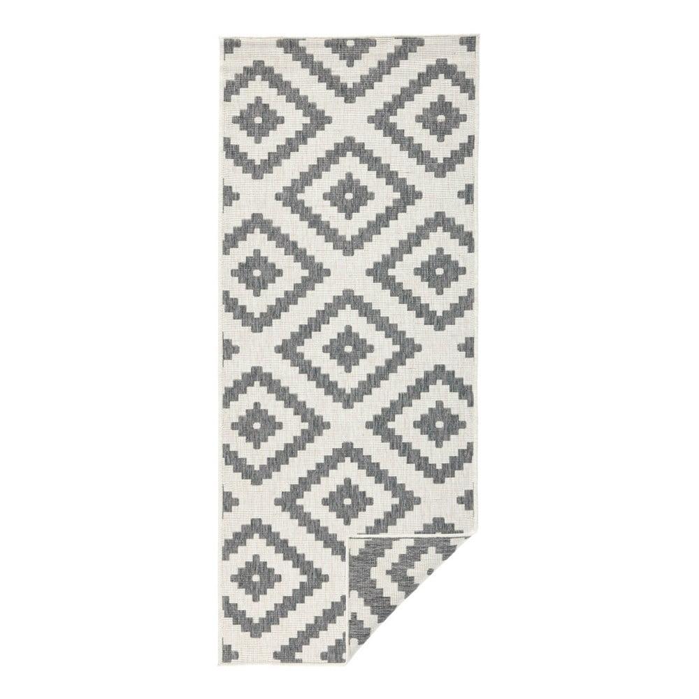 Sivý vonkajší koberec Bougari Malta, 80 x 250 cm
