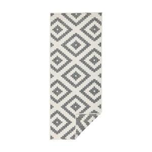 Sivý vzorovaný obojstranný koberec Bougari Malta, 80×250 cm