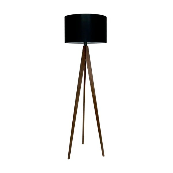 Stojacia lampa 4room Artist Black/Brown, 125x42 cm