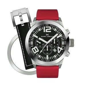 Unisex hodinky Marc Coblen s remienkom a krúžkom na ciferník naviac P109