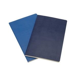 Sada 2 notesov Moleskine Blue Volant, 21x13 cm