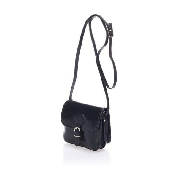 Čierna kožená kabelka Lisa Minardi Laura