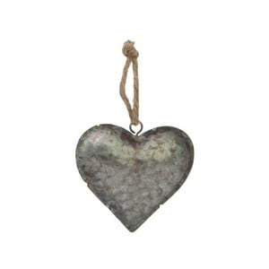 Závesná dekorácia Antic Line Zinc Heart