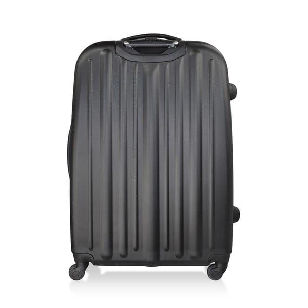 Sada 3 čiernych cestovných kufrov nakolieskach Hero Davis
